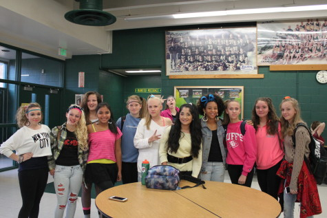Totally Tubular: Students Dress up for 80's day