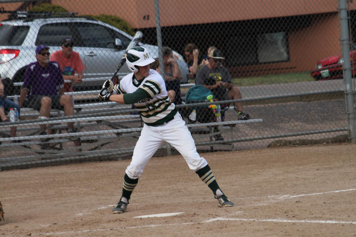 Lucas+Culver+%2812%29+goes+up+to+bat+in+an+early-season+game+against+Salida+High+School.