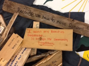 Students protest bonfire cancellation