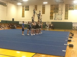 Cheerleaders finish second at Leagues, look forward to State