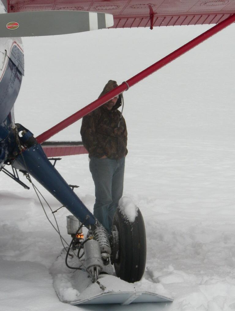 Principal Glenn Hard and the broken down plane