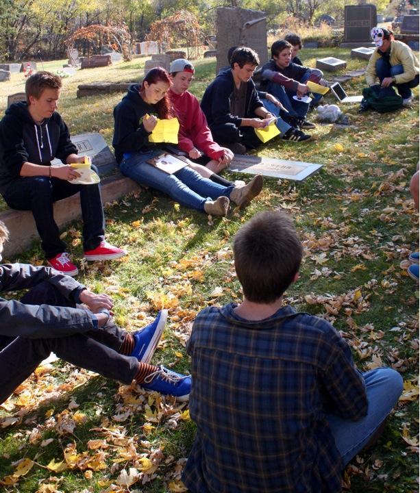 Students of the various Spanish classes took a field trip on Dia de los Muertos and shared stories of loved ones.