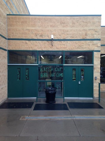 New rivalry? Woodland Park vandalizes school
