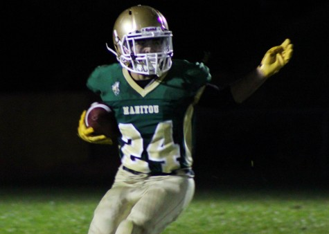 Wide Receiver and Defensive Back Dominic Archuleta (11) at the home game against Faith Christian on August 29, 2014.