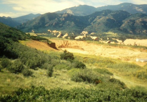 The gravel pit while it was still in operation (1999)