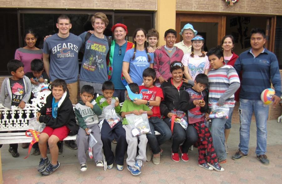 When the students had shown up at the orphanage, the kids there had giant smiles on their faces to see newcomers.