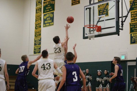 Lucas Rodholm sinks another one in the basket.