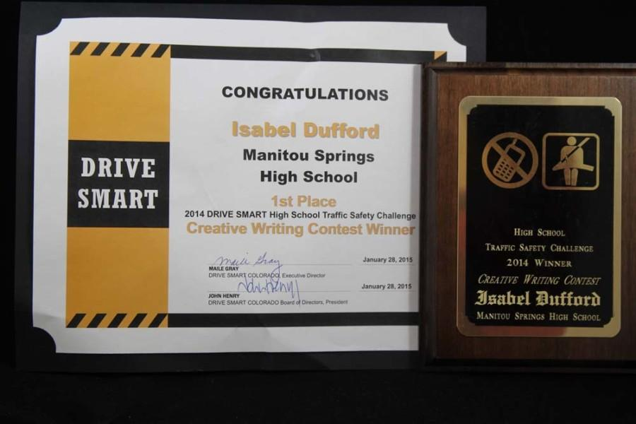 Student Council wins awards for 2014 Drive Smart week