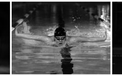 Veronica Morin (11) qualified for state in four events and broke two pool records.