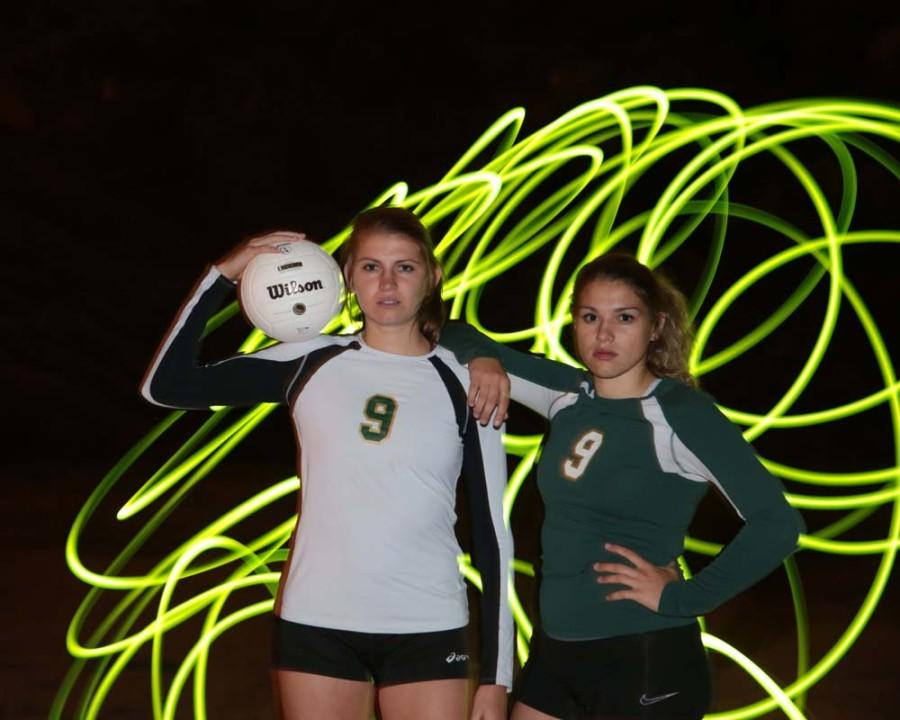 Star players on the volleyball team, Brooke Garretson and Angala Jensen, are both seniors this year.