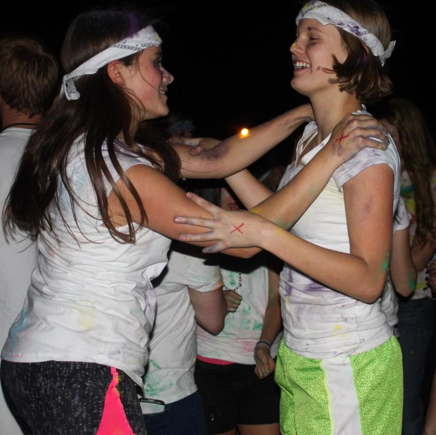 Olivia Doherty (11) and her very close friend dance it out at the color dance this last weekend! Olivia invited her friend from another school which made it even more fun!