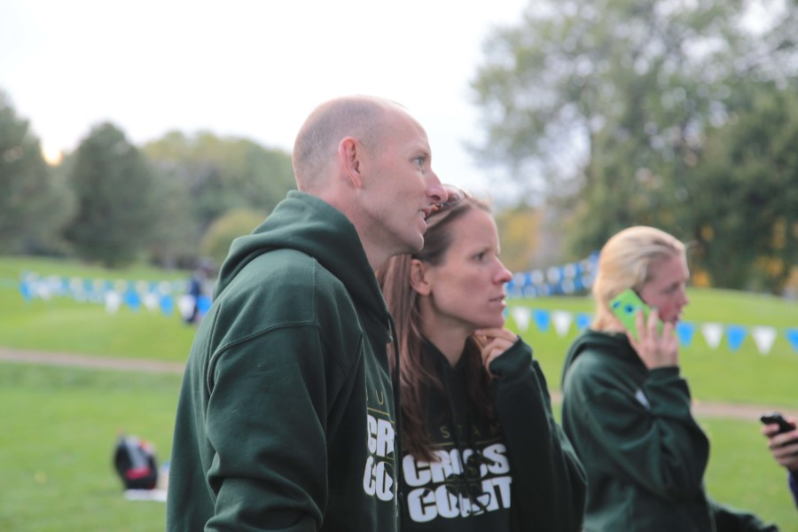 Coaches of Manitou's boys' and girls' cross country team: Jaclyn and Duane Roberson.