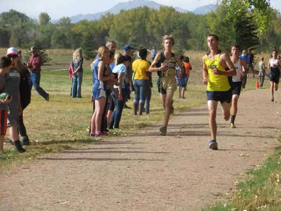 Seth Nolan (11) set a personal record at the Tri Peaks League. Nolan broke his Colorado record and his Kansas record which he has carried since he came to Manitou at the beginning of his sophomore year.