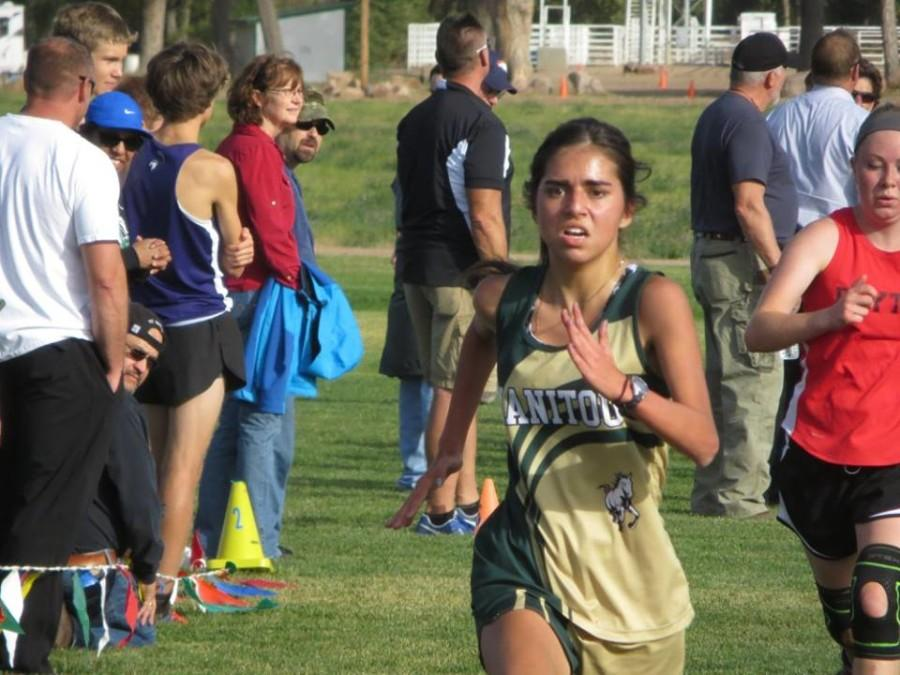Ashley Rodriguez (11) nearly set her pr at Tr Peaks. She was only 8 seconds off.