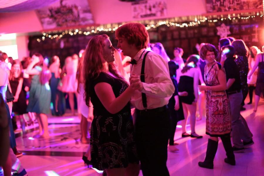 Connor Cupit (12) and his girlfriend, who goes to a neighboring high school, dance during a song.