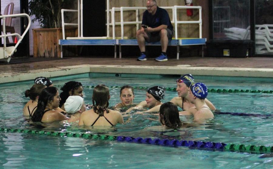 Girls%27+Swim+Excels+in+Recent+Meet