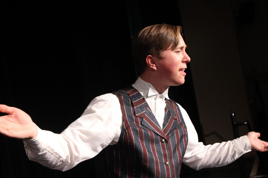 Martin Beck, played by Morgan Baker, asks the audience how their feeling as Houdini battles death. Baker won an award for best actor in a supporting role.