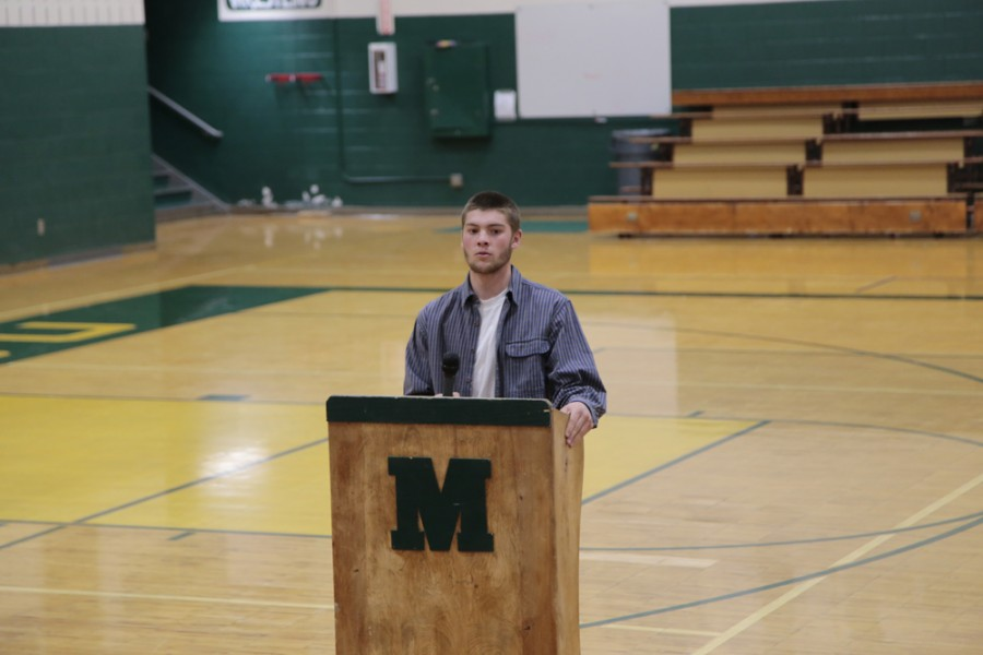 Konnor Kaltenbacher (11) tells a story about growing up with Ryan Lanosga, speaking about his content of character and positive outlook on life.