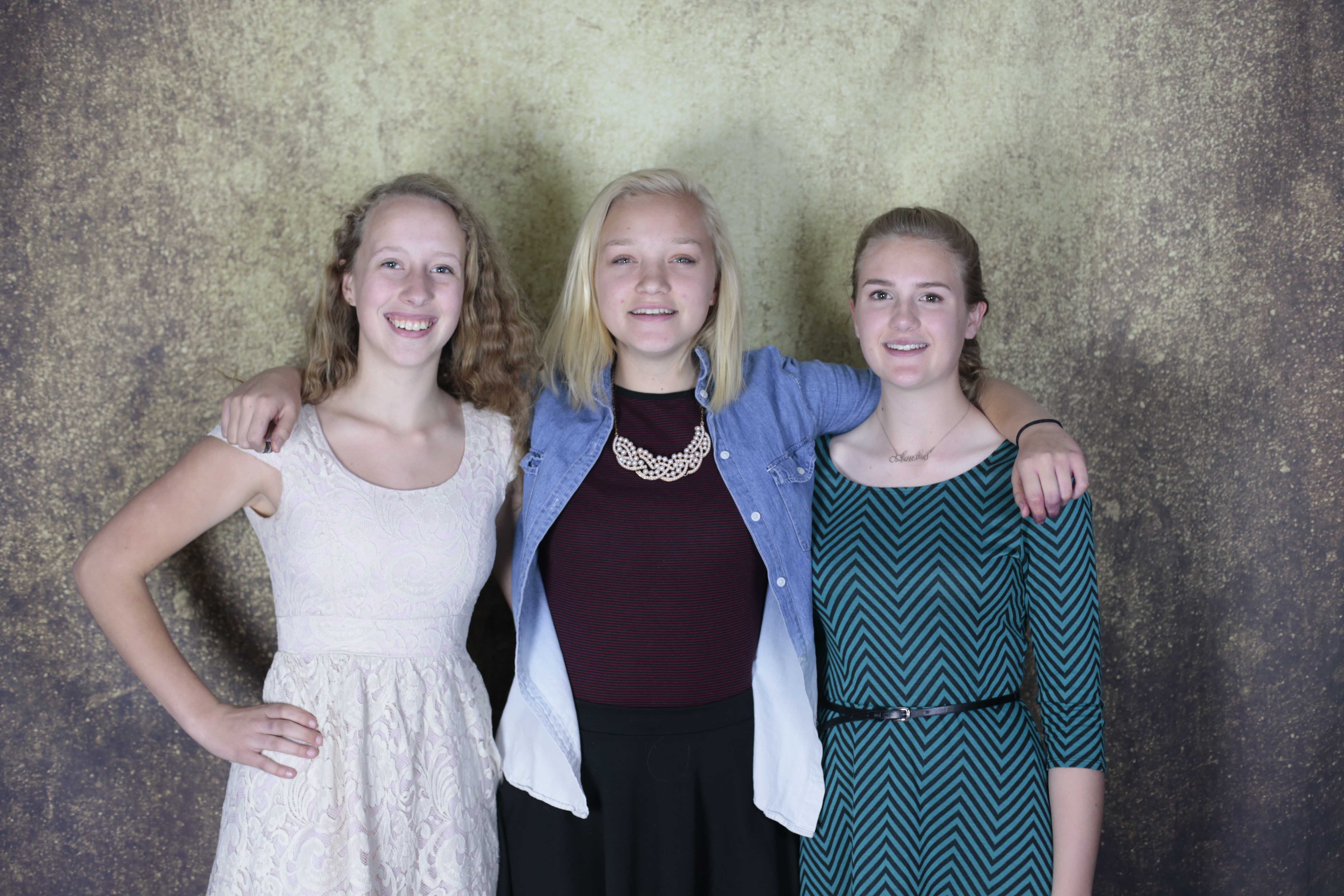The new executive board of Stuco for the 2016-2017 year: Lily Reavis (11), Monique Heiniger (11) and Amelia McKenzie (11). Not Pictured: Andrea Edwards (11).
