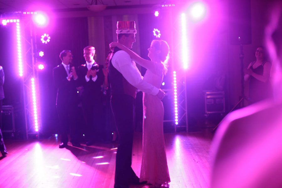 Steven Jensen (12) and Hayley Hamblin (12) during their celebratory king and queen dance.