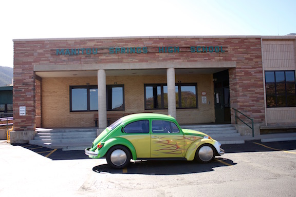 Manitou is the only school in the state with an electric car. It was made by the wood-shop class in 1994.