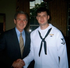 What an opportunity! Steven Blocher met President George W. Bush in the Oval Office during his tour after returning from detainment.