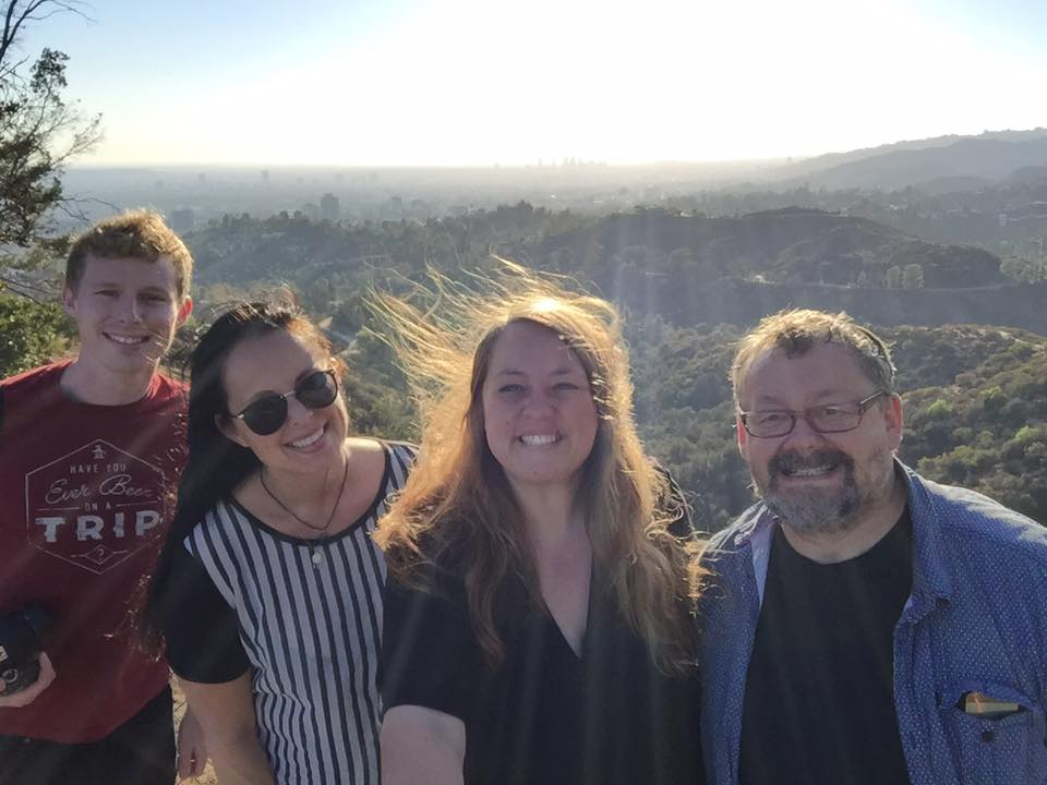 The Easy German group take a picture at a location they traveled to. The group is known for traveling and producing YouTube videos as they go.