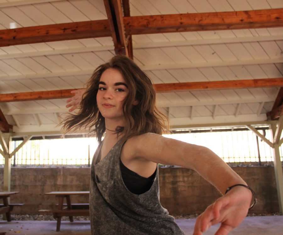 Jensen Delius (11) dances. She plans to minor in dance upon her completion of high school.