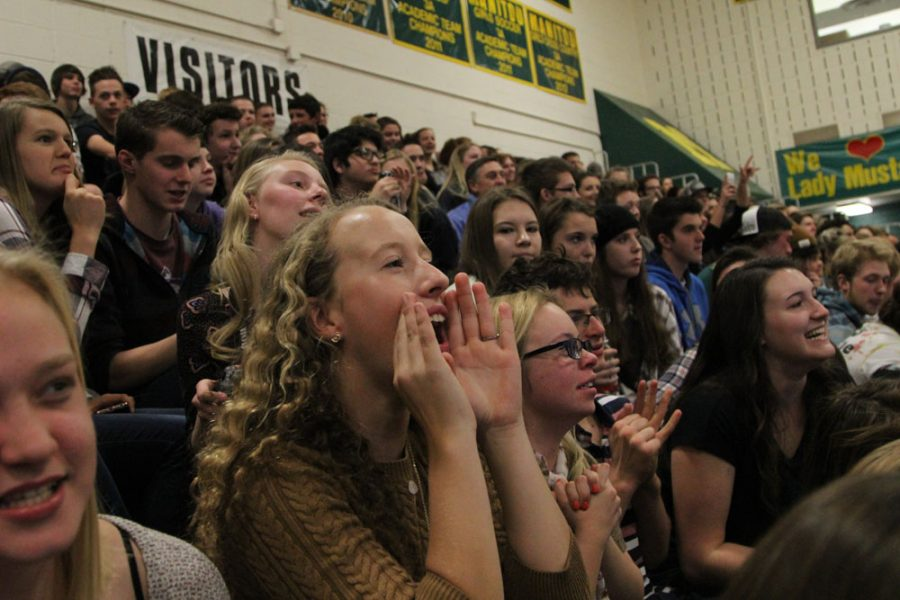 Lily Reavis (12) cheers as the leaderboard is shown on the screen. Reavis teams assigned name was the doctors.