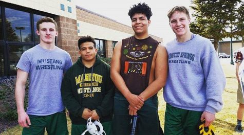 (Left to right) Jacob Rider, Christian Navarro, Julian Sanchez and Atticus Fredickson at their post state tournament in Denver.
