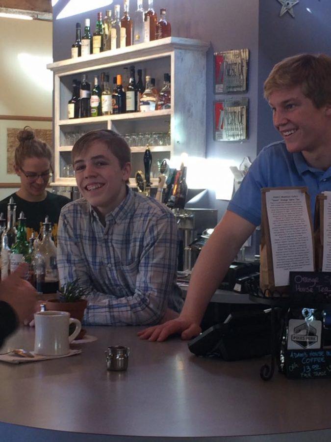 Atticus Fredrickson (12) and Byrd McCarley (10)
