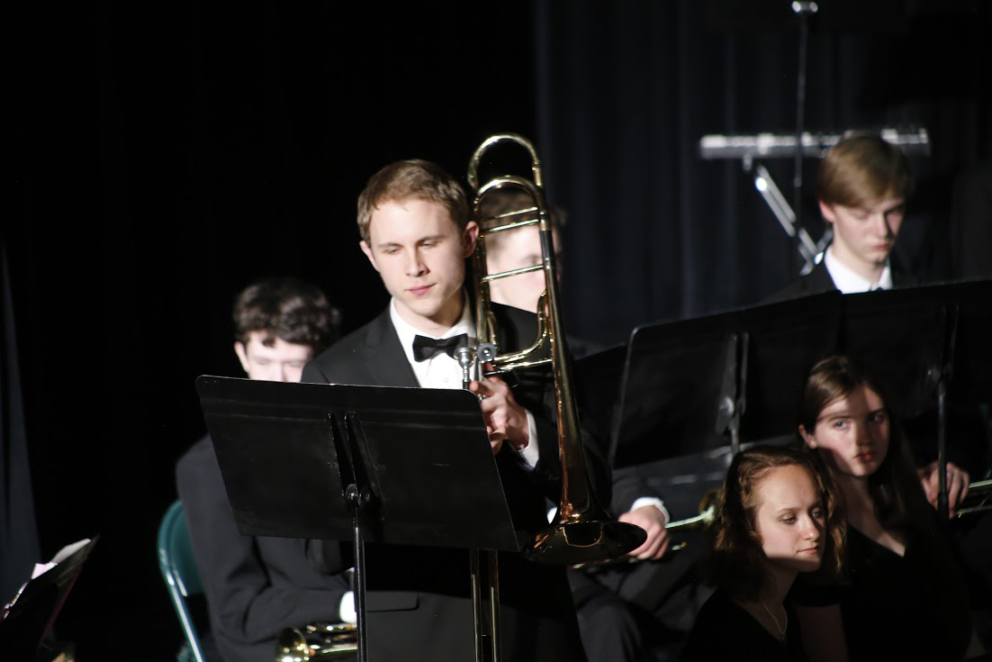 Mason Aurand was one of seniors in MSHS band this year. Aurand has been in band for seven years.