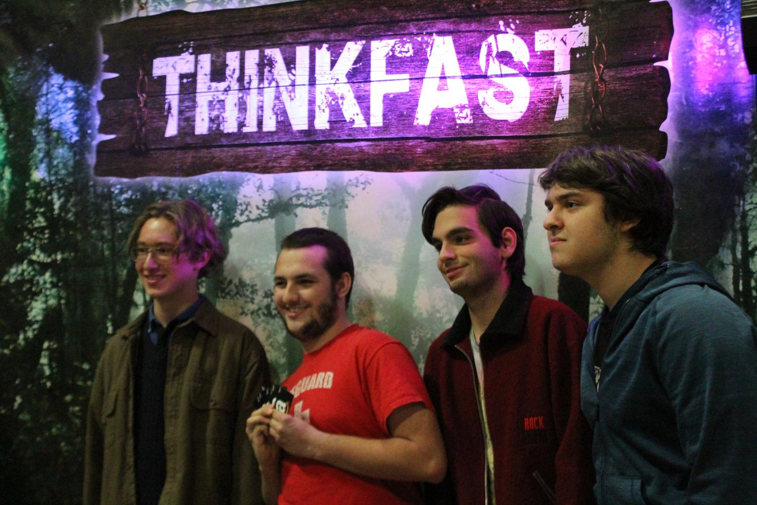 Tyler Jungbauer (12), John Ives (12), Bora Giyik (12) and Max Piccioni (12) were the winning team of the Think Fast Interactive competition. As a reward, they won a total of $100 worth of Amazon gift cards.