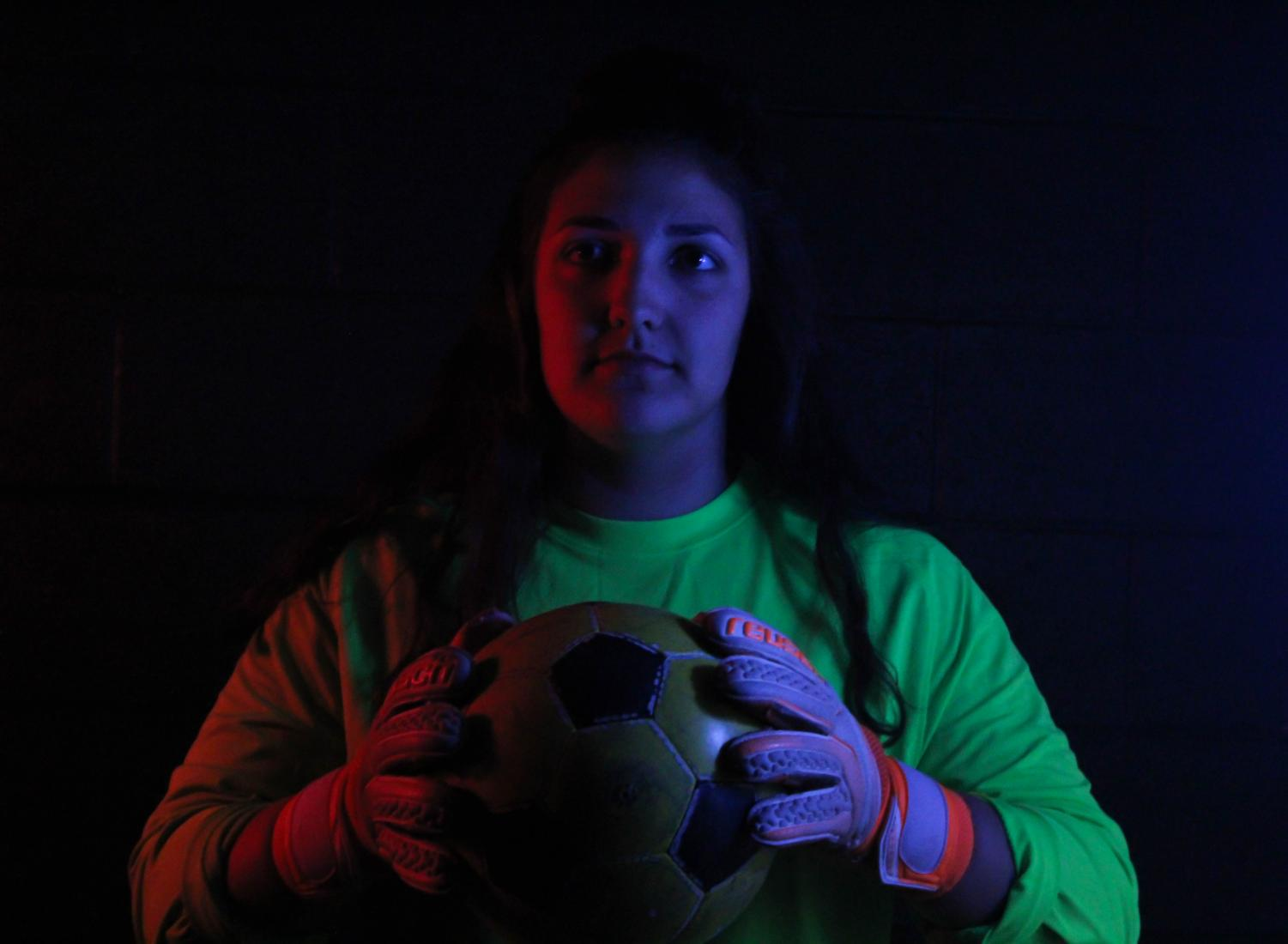 Alyssa Holladay (12) has shown remarkable leadership in all sports she takes part in, which has earned her title of Captain of the MSHS Girls' Soccer team. Her goal for this year is to keep the team tight-knit and connected throughout the whole season.