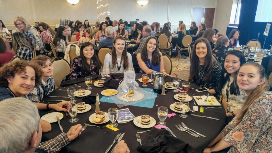 Getting along with people is a great way to build relationships, as MSHS students found out while eating dinner with other Key Clubbers at the Rocky Mountain District Convension.