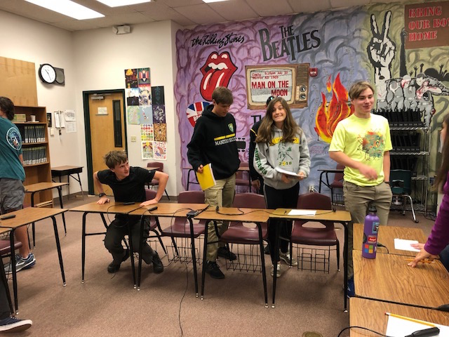 Manitou Springs A Team brought their A game during one round in the Knowledge Bowl Competition on Sept. 19.