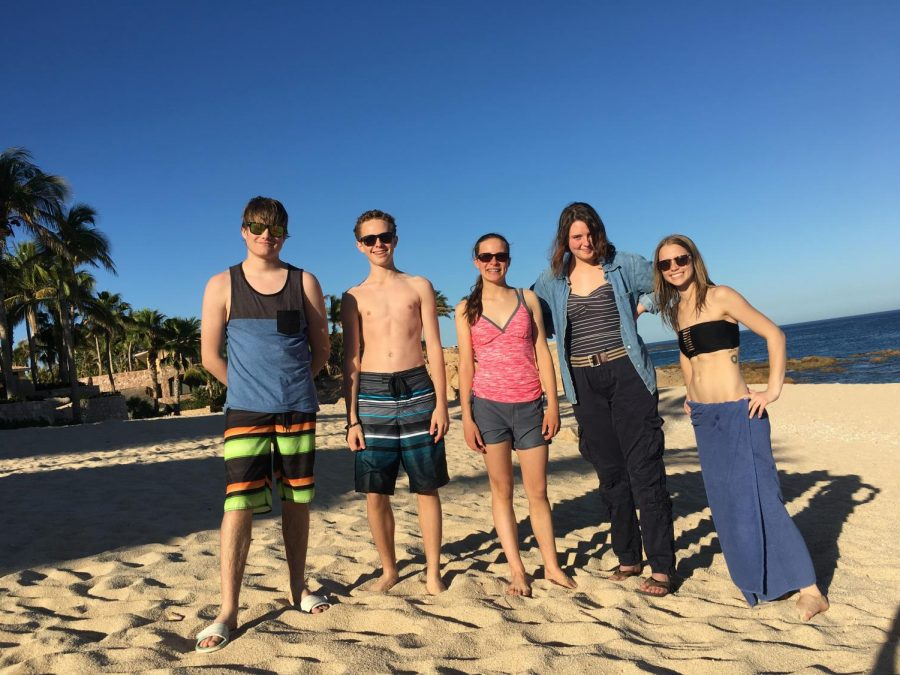 MSHS students and advisors stand in front of Chileno Beach for the first time. They were there to be immersed in the Spanish language as well as to help the impoverished people living in and outside of the city.