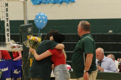 Emotional Senior Volleyball Night