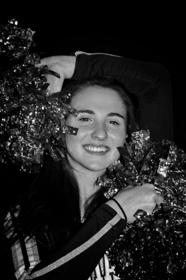 Bri Anderson (11) has a dance background that helps her with her success on the cheer team. She is one of the upperclassman on the team, which means she is a leader to others.