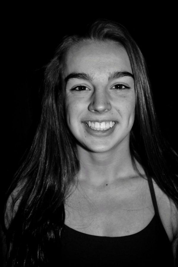 Delaney Sawyer (10) is the Dive Captain and one of the most experienced divers on the team. Her background with gymnastics helped her out tremendously when she started last year.
