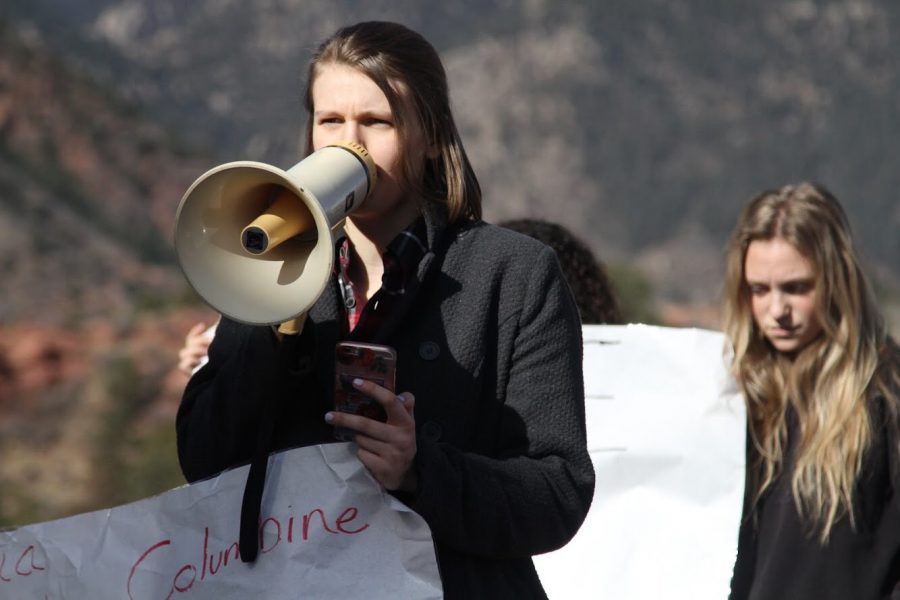 Nearing the end of the 2017-18 school year, Kaitlyn Cashdollar (12) and peers helped organize the Walk Out for Student Lives. The Walk Out assisted in creating awareness for the consistent flow of school shootings. This is only one of many protests and marches that Cashdollar has participated in. She is often active in events that involve her political views.