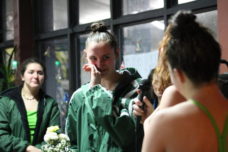 Girls' Swim & Dive Hosts Last Home Meet for Seniors
