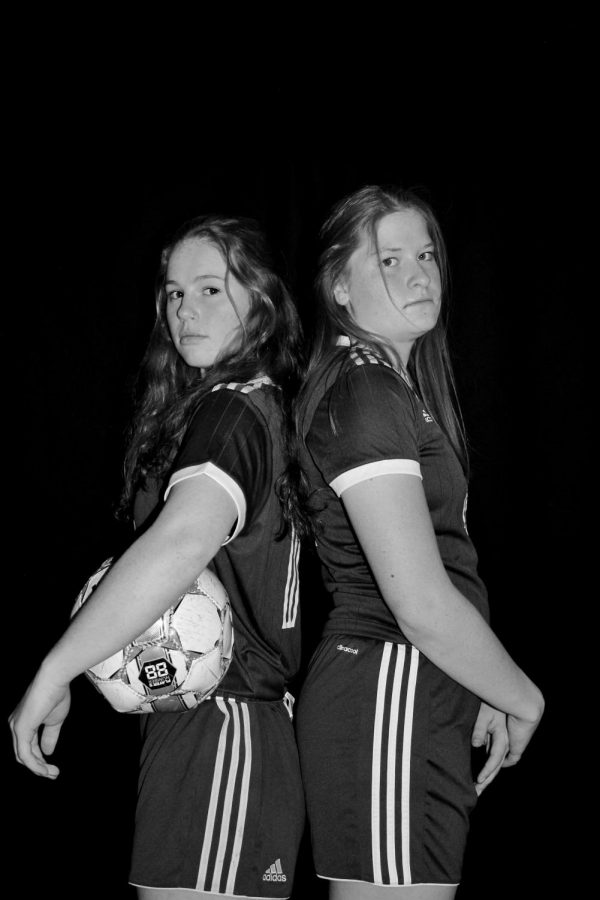 Ava Spangler (12) and Caileen Sienknecht (12) are two of the captains of the 2019 Girls' Soccer season. They have both played all four years of high school