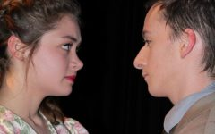 Olive Van Eimeren (10) and Matt Buchenhain (12) stare deeply into each others eyes at the very end of Badger as they were dancing together.