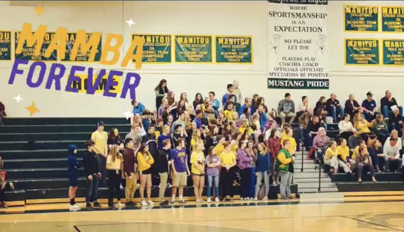 The+Mustangs+crowd+wore+their+gold+and+purple+clothing+while+cheering+for+the+boys%27+basketball+team.