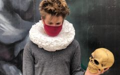 Senior Koda Oxford recreates Shakespeare's Hamlet.  Theater was greatly restricted this year, and thespians were unable to act in traditional ways.