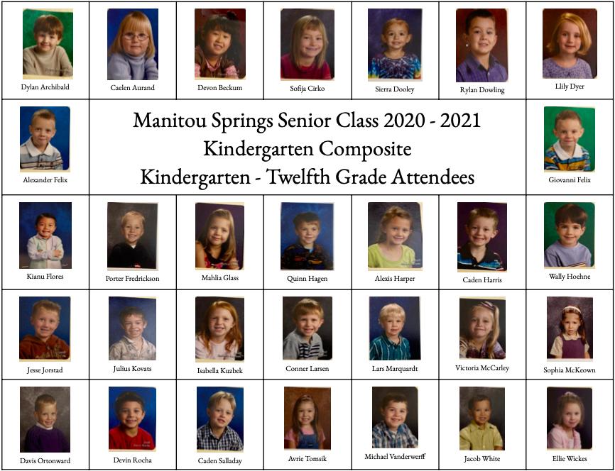 These seniors have been in Manitou Springs School District 14 since preschool or kindergarten.